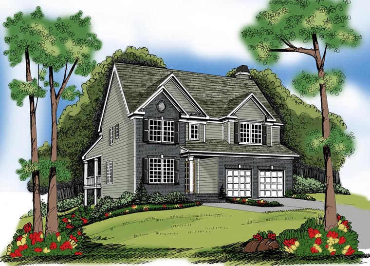 House Plan 72591 Elevation