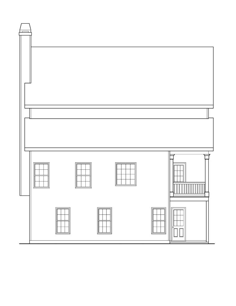 House Plan 72591 Rear Elevation