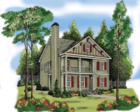 House Plan 72592 Elevation