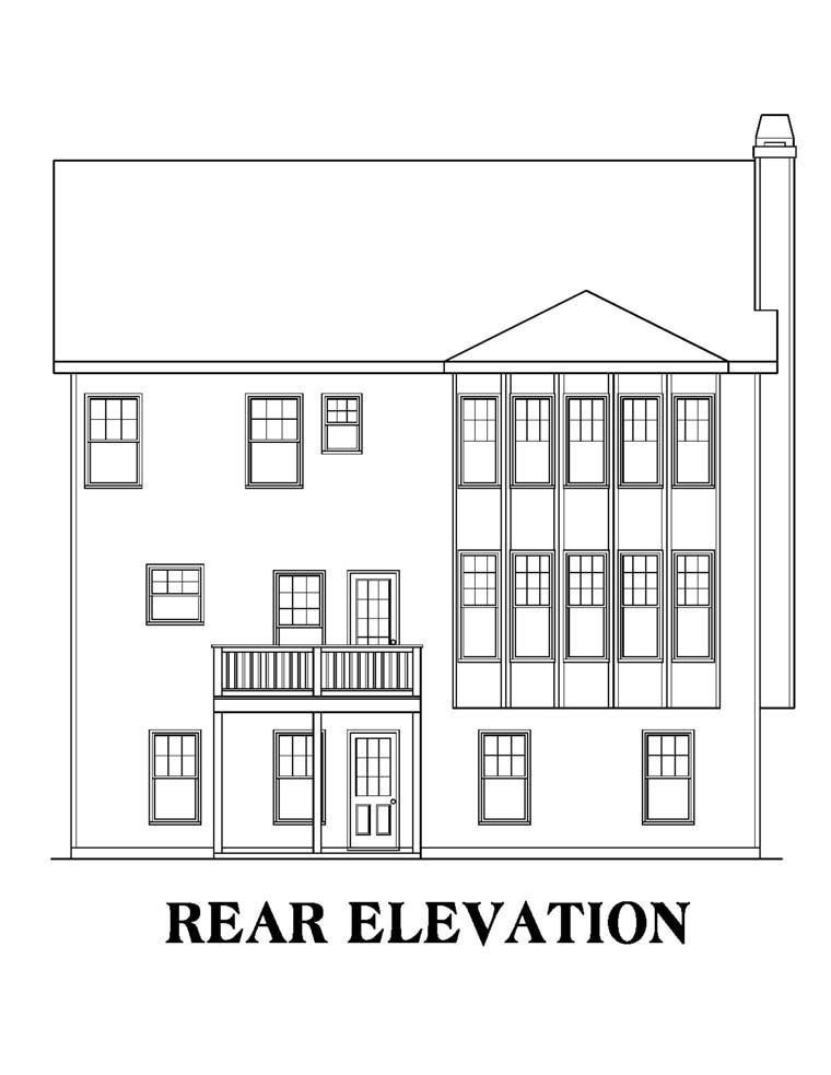 House Plan 72594 Rear Elevation