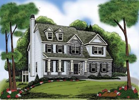 House Plan 72595 | Style Plan with 2752 Sq Ft, 4 Bedrooms, 4 Bathrooms, 2 Car Garage Elevation
