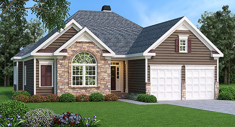 Ranch House Plan 72596 Elevation