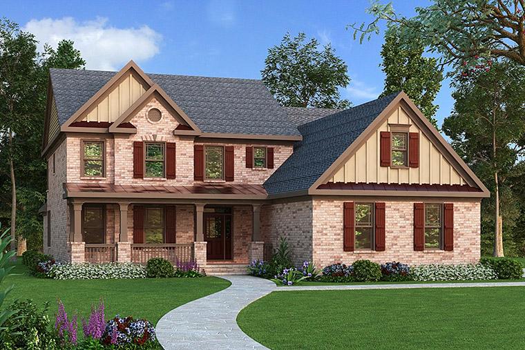 House Plan 72597 Elevation