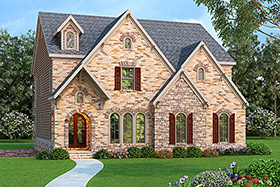 House Plan 72599 with 4 Beds, 3 Baths, 2 Car Garage Elevation