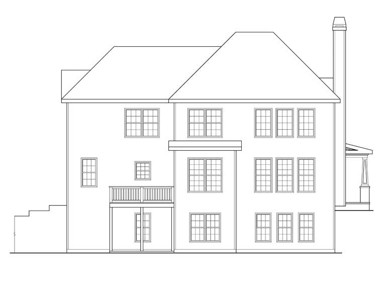 House Plan 72603 Rear Elevation