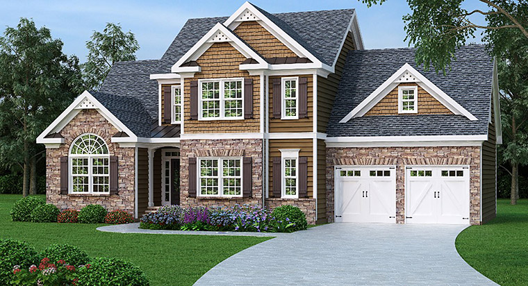 House Plan 72604 with 3 Beds, 3 Baths, 2 Car Garage Elevation