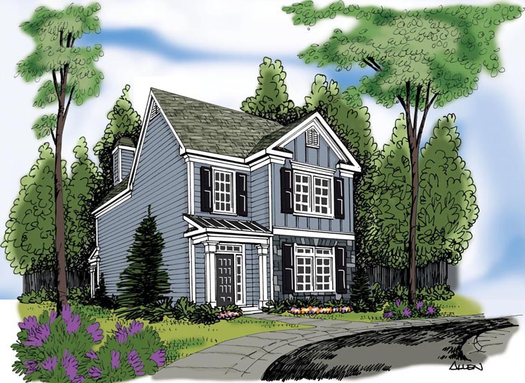 House Plan 72605 Elevation
