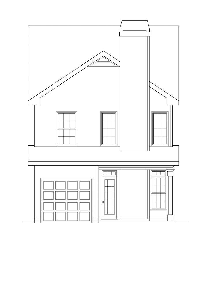 House Plan 72605 Rear Elevation
