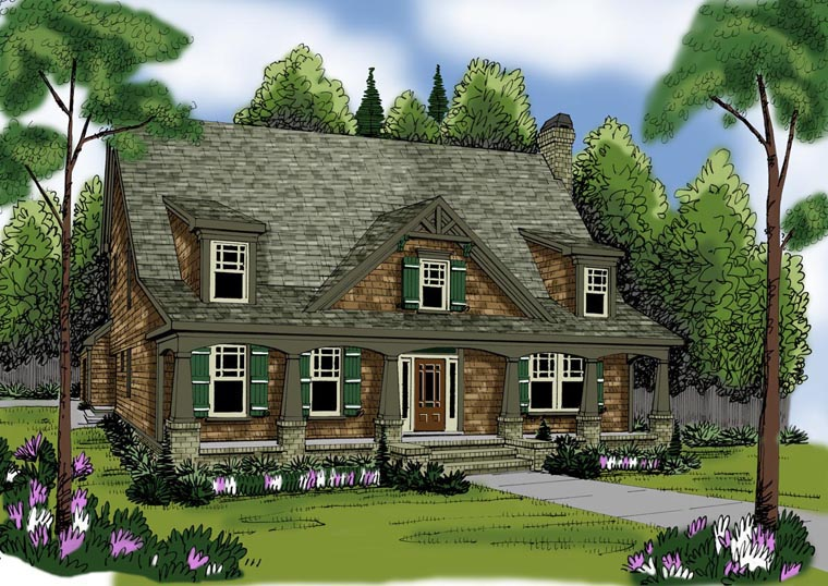 House Plan 72607 Elevation
