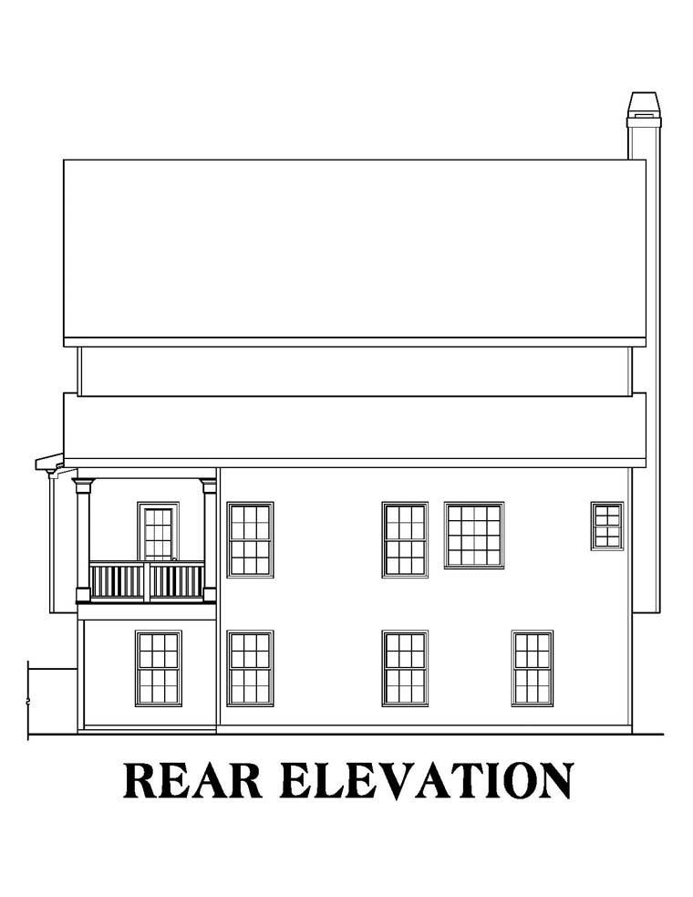 House Plan 72608 Rear Elevation
