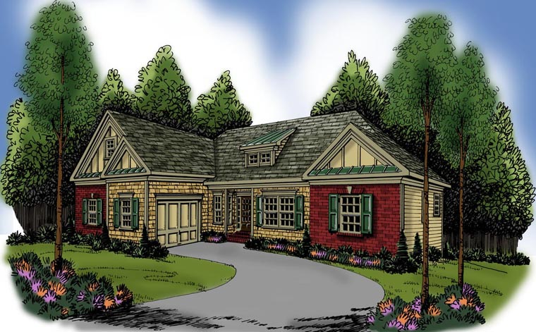 Ranch House Plan 72610 Elevation