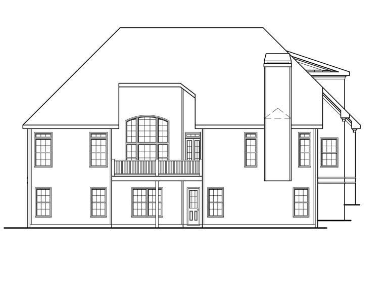 Ranch House Plan 72612 Rear Elevation