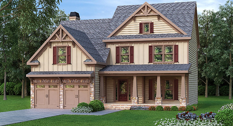 House Plan 72614 Elevation