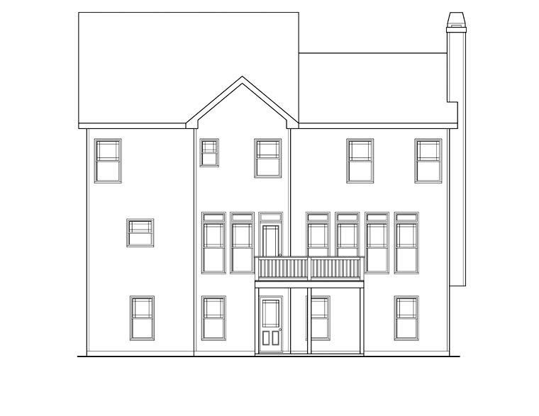 House Plan 72614 Rear Elevation