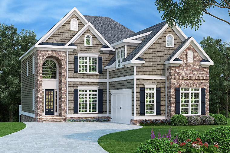 House Plan 72615 with 4 Beds, 5 Baths, 2 Car Garage Elevation
