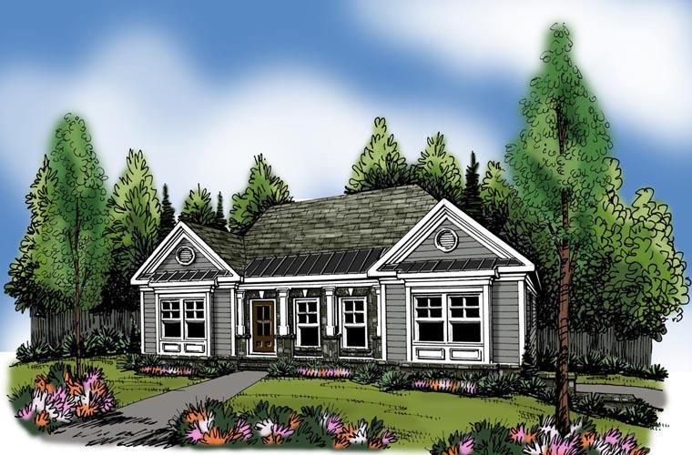 Ranch House Plan 72616 Elevation
