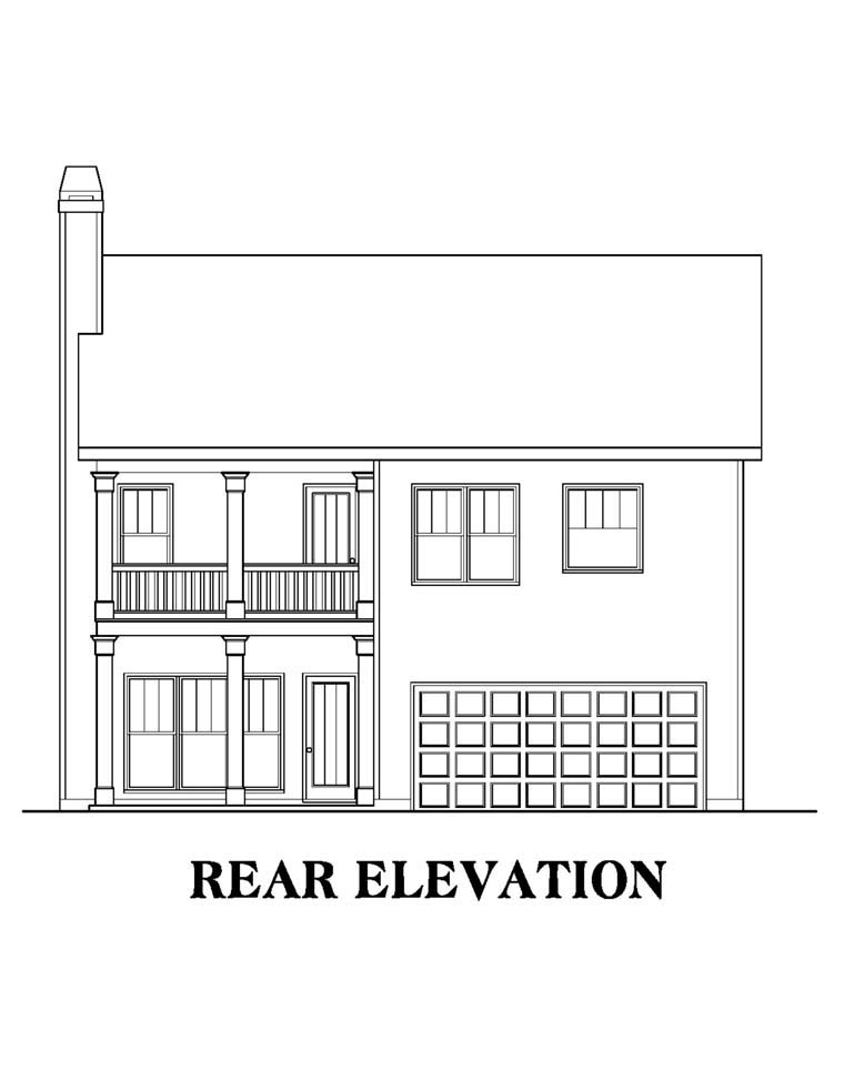 House Plan 72619 Rear Elevation