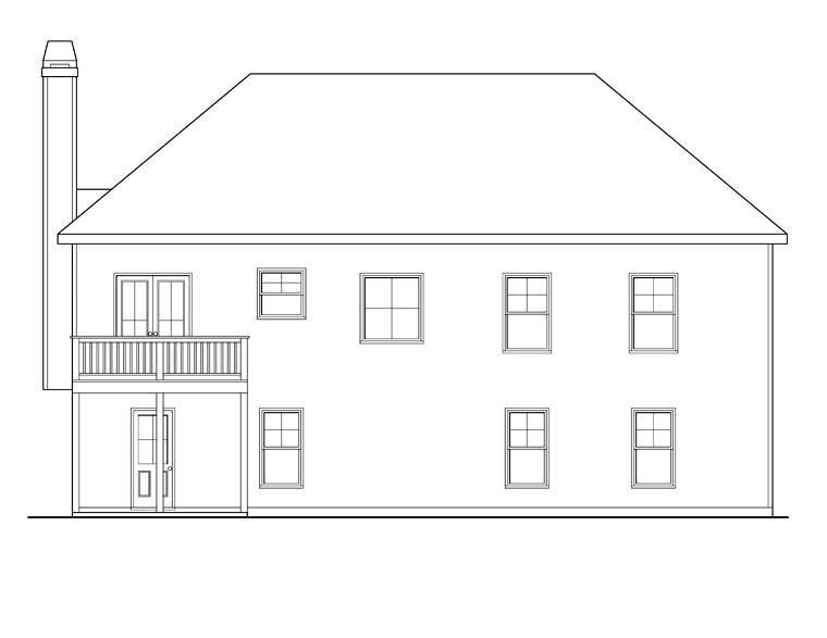 House Plan 72620 Rear Elevation