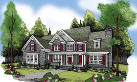 House Plan 72622 | Style Plan with 4083 Sq Ft, 5 Bedrooms, 5 Bathrooms, 3 Car Garage Elevation