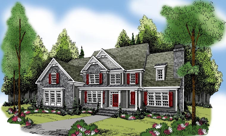 House Plan 72622 Elevation