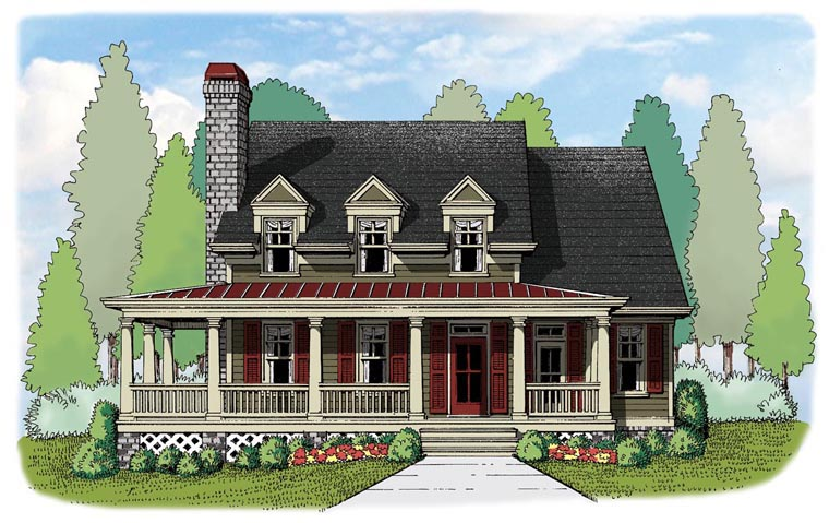 House Plan 72623 Elevation