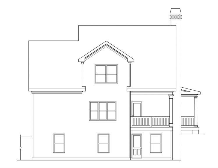 House Plan 72623 Rear Elevation