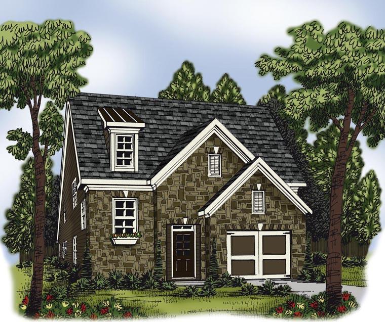 House Plan 72624 Elevation