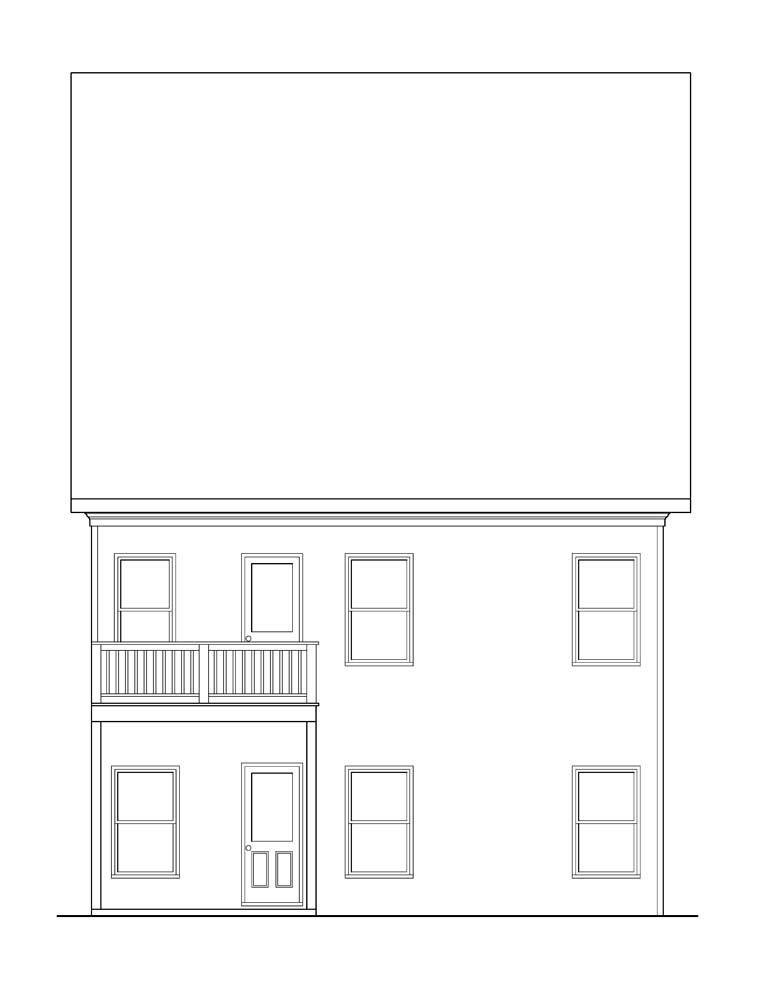 House Plan 72624 Rear Elevation
