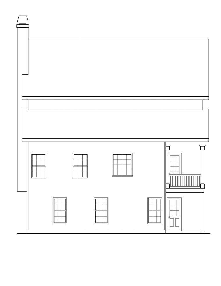 House Plan 72626 Rear Elevation