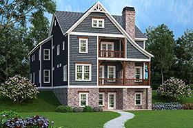 House Plan 72627 | Style Plan with 4343 Sq Ft, 5 Bedrooms, 5 Bathrooms, 3 Car Garage Elevation