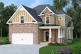 House Plan 72628 Elevation