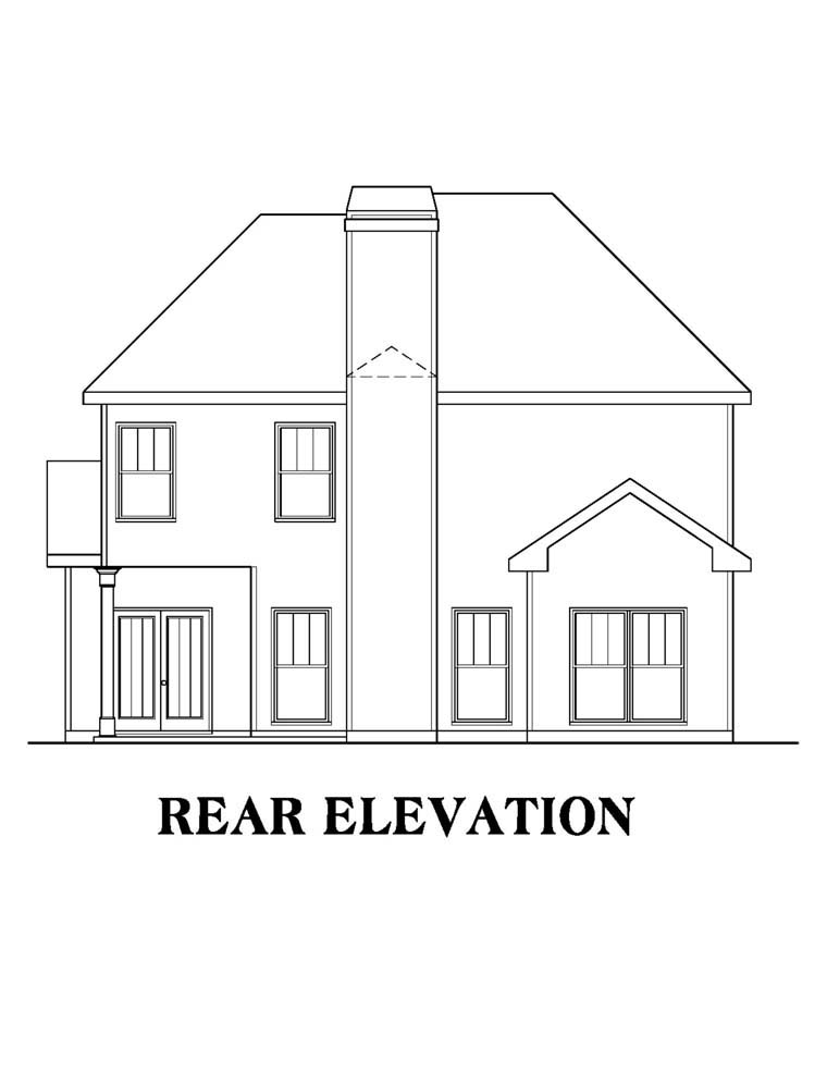 House Plan 72628 Rear Elevation