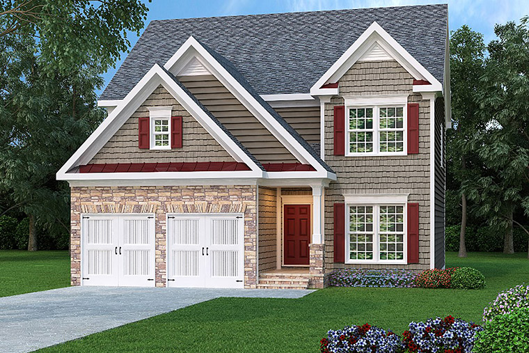 House Plan 72629 with 4 Beds, 3 Baths, 2 Car Garage Elevation