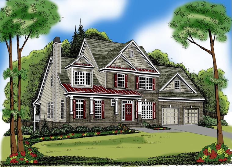 House Plan 72630 Elevation