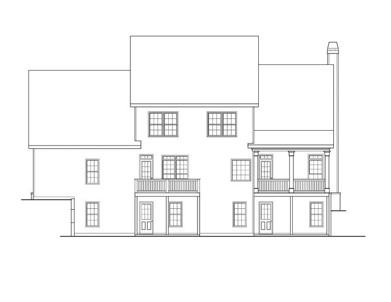 House Plan 72630 Rear Elevation