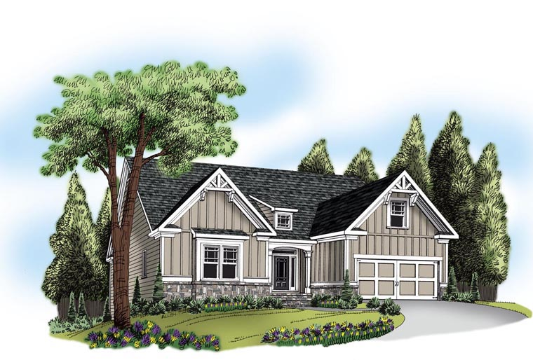 Ranch House Plan 72632 Elevation