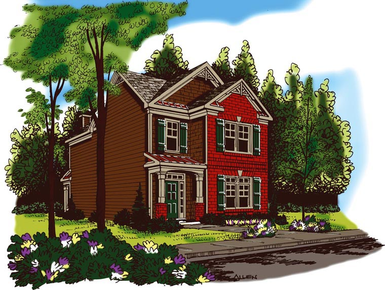 House Plan 72633 Elevation