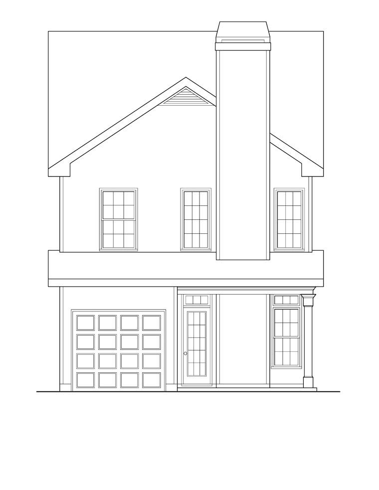 House Plan 72633 Rear Elevation