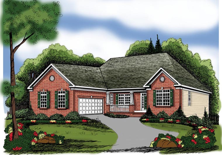 Ranch House Plan 72634 Elevation