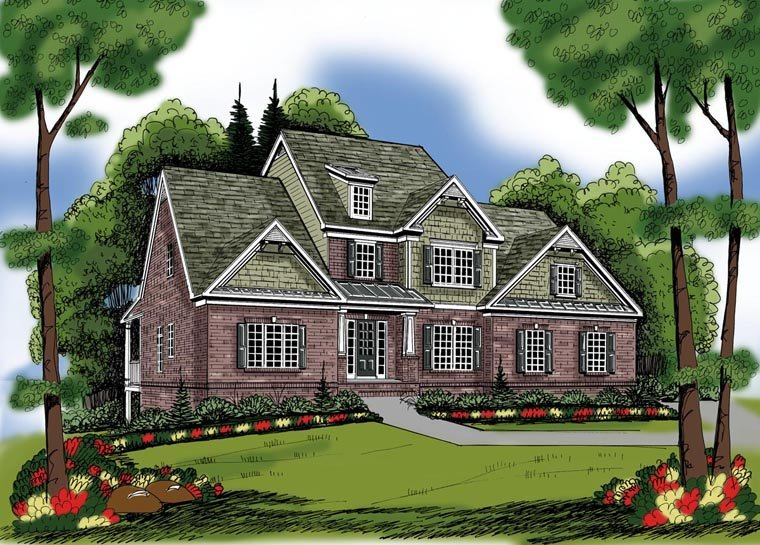House Plan 72635 Elevation
