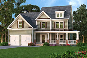 House Plan 72637 Elevation