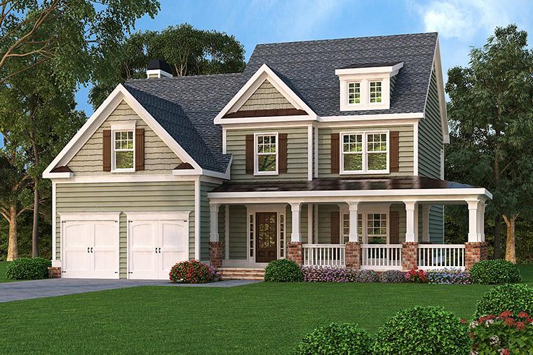 House Plan 72637 with 3 Beds, 3 Baths, 2 Car Garage Elevation