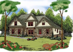 House Plan 72638 | Style Plan with 3167 Sq Ft, 4 Bedrooms, 3 Bathrooms, 2 Car Garage Elevation