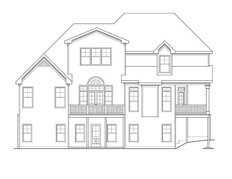 House Plan 72638 Rear Elevation