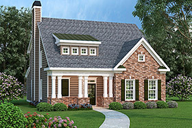 House Plan 72639 Elevation