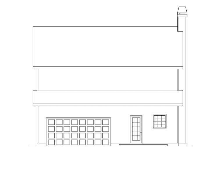 House Plan 72639 Rear Elevation