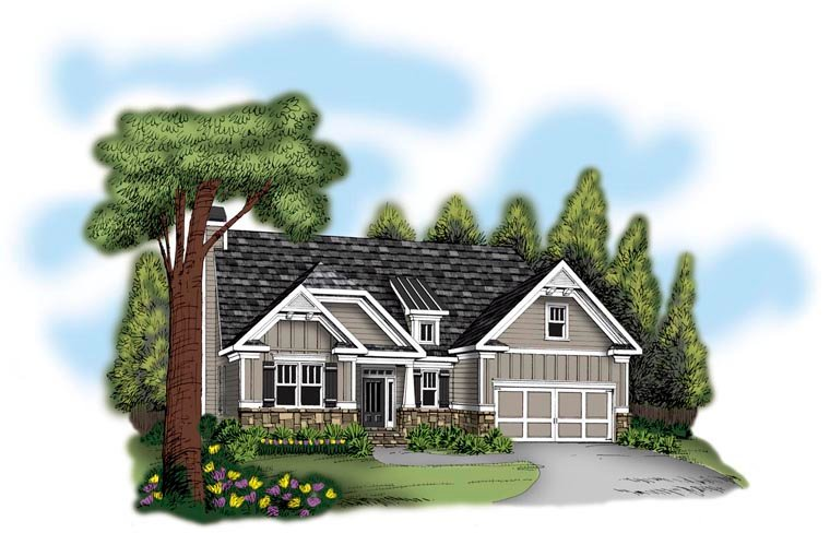 Ranch House Plan 72640 Elevation