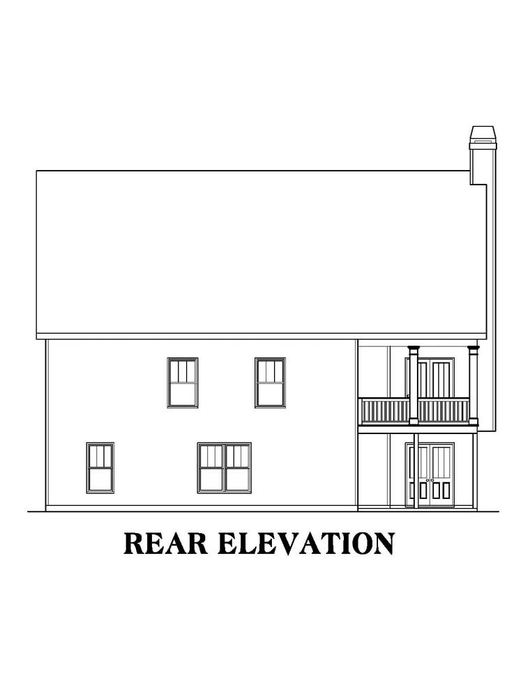 Ranch House Plan 72640 Rear Elevation
