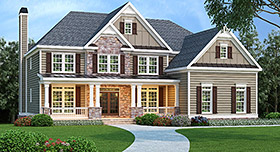 House Plan 72642 Elevation
