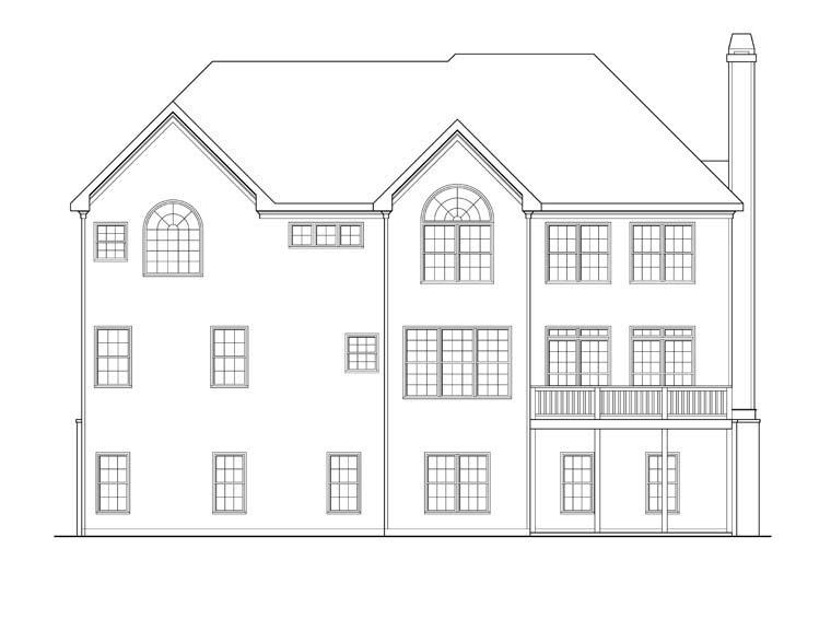 House Plan 72642 Rear Elevation